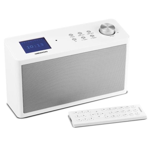 MEDION® LIFE P83302 DAB+ Küchen Internetradio, DLNA/UPNP, DAB+, UKW, DMR  Unterstützung, Steuerung per App, 2 x 2.8 Watt RMS (B-Ware)