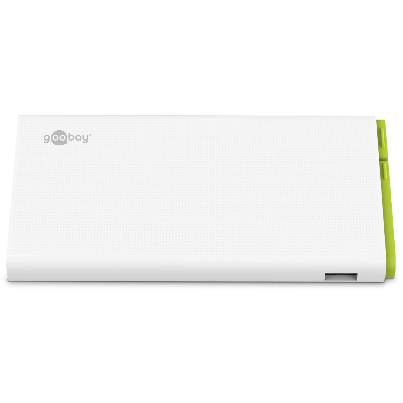 WENTRONIC Powerbank 10.0, Kompakte und kraftvolle Powerbank mit 10.000 mAh und integriertem Anschlusskabel
