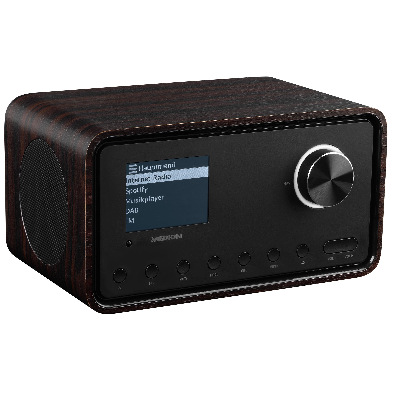 MEDION® S85105 WLAN Internet-Radio mit 2.1 Soundsystem, 8,1 cm (3,2'') Farbdisplay, DAB+/UKW-Empfänger, WLAN, DLNA, 2 x 10 W RMS (B-Ware)