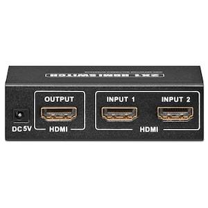 GOOBAY HDMI™ Umschaltbox zum Anschluss von bis zu 2 Geräten an z.B. 1 Fernsehgerät
