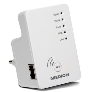MEDION® Wireless-LAN Verstärker P85250, WPS Unterstützung, Konfiguration per Knopfdruck