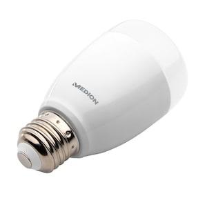 MEDION® LIFE+ RGB LED Leuchte S85360, Alle Farben dank RGB, Lichtdimmer, 50.000 Std. Nutzungsdauer, 470 Lumen, E27 Fassung