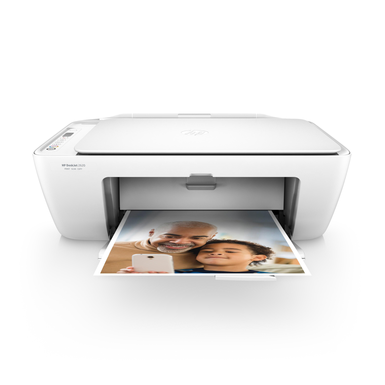 HP DeskJet 2620 All-in-One Drucker - Drucken, Kopieren und Scannen mit einem Gerät mit Ihrem PC, Smartphone und Tablet