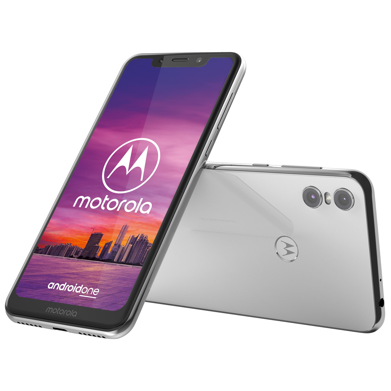 MOTOROLA Moto One Smartphone, 14,98 cm (5,9) HD+ Display, Android™ 8.1 (Update auf Android™ 9 möglich), 64 GB Speicher, Octa-Core-Prozessor, weiß