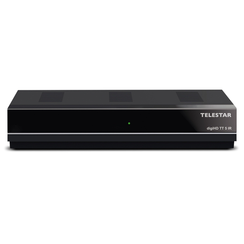 TELESTAR digiHD TT 5 IR Receiver, DVB-T 2, IRDETO-Entschlüsselung, Webportal, EPI Programminfo, Full HD, Videotext, USB Mediaplayer
