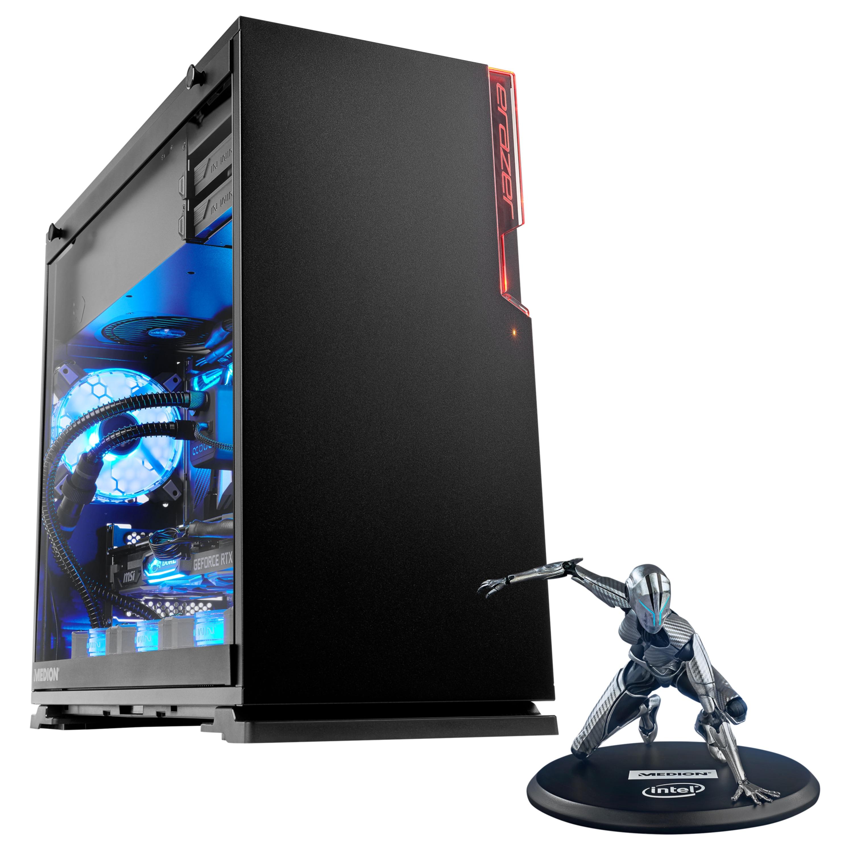 ERAZER® X87035, Intel® Core™ i7-9700K, Windows10Home, RTX 2070, 512 GB SSD, 2 TB HDD, 16 GB RAM, High-End Gaming PC + Gratis ERAZER Girl Figur