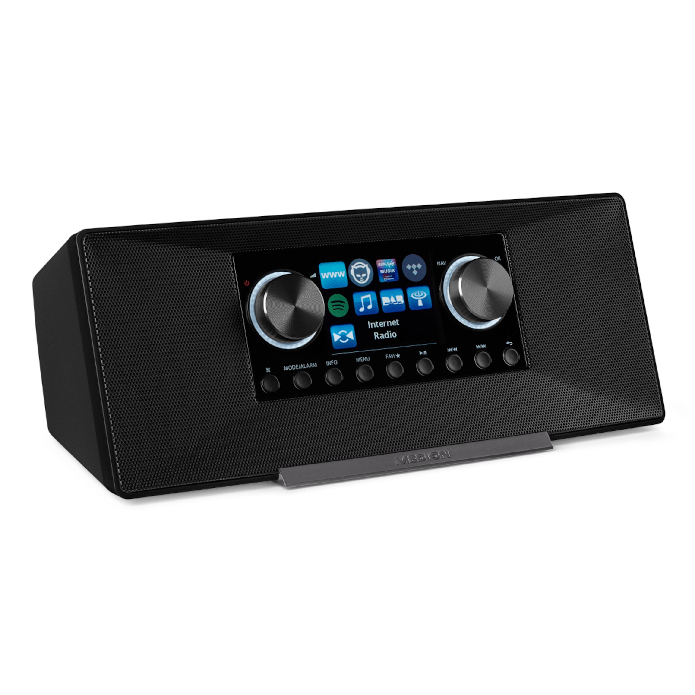 MEDION® LIFE® P85135 WLAN Internet-Radio, 7,1 cm/2,8 TFT-Display, DLNA-/UPnP, DAB+ & FM/UKW, LAN, USB 2.0, AUX, 2 x 6 W RMS