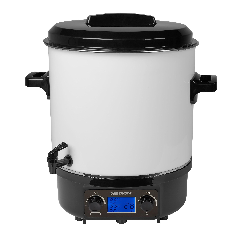 MEDION® Einkochautomat MD 18336, 27 L Fassungsvermögen, Temperatursteuerung 30-100 °C, zum Einkochen und Warmhalten