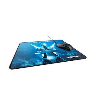 ERAZER Mousepad X89011 MD 87642, extra großes Gaming Mousepad, stark haftende Unterseite, robust, strapazierfähig, vernähter Rand