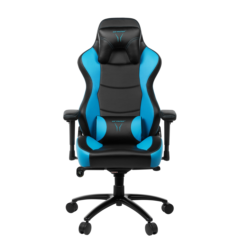 ERAZER® X89018 Gaming Stuhl, stilvoll und komfortabel, sportliche Optik und hochwertige Materialien, mit 2 Kissen für den Rücken- und Kopfbereich