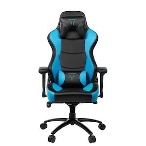 MEDION® ERAZER® X89018 Gaming Stuhl, stilvoll und komfortabel, sportliche Optik und hochwertige Materialien, mit 2 Kissen für den Rücken- und Kopfbereich