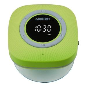 MEDION® LIFE P66096 Bluetooth® Douche Radio | LED-Display | FM radio | IPX6 waterdicht | 3 Watt RMS | Groen