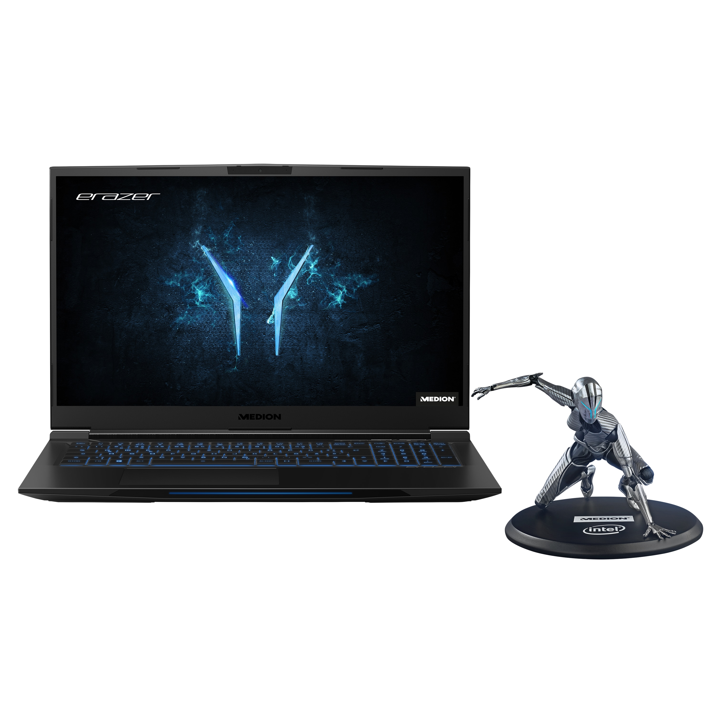 ERAZER® X17805, Intel® Core™ i7-9750H, Windows10Home, 43,9 cm (17,3) FHD Display mit 144 Hz, RTX 2070 im Max-Q Design, 512 GB PCIe SSD, 2 TB HDD, 32 GB RAM, High-End Gaming Notebook + Gratis ERAZER Girl Figur