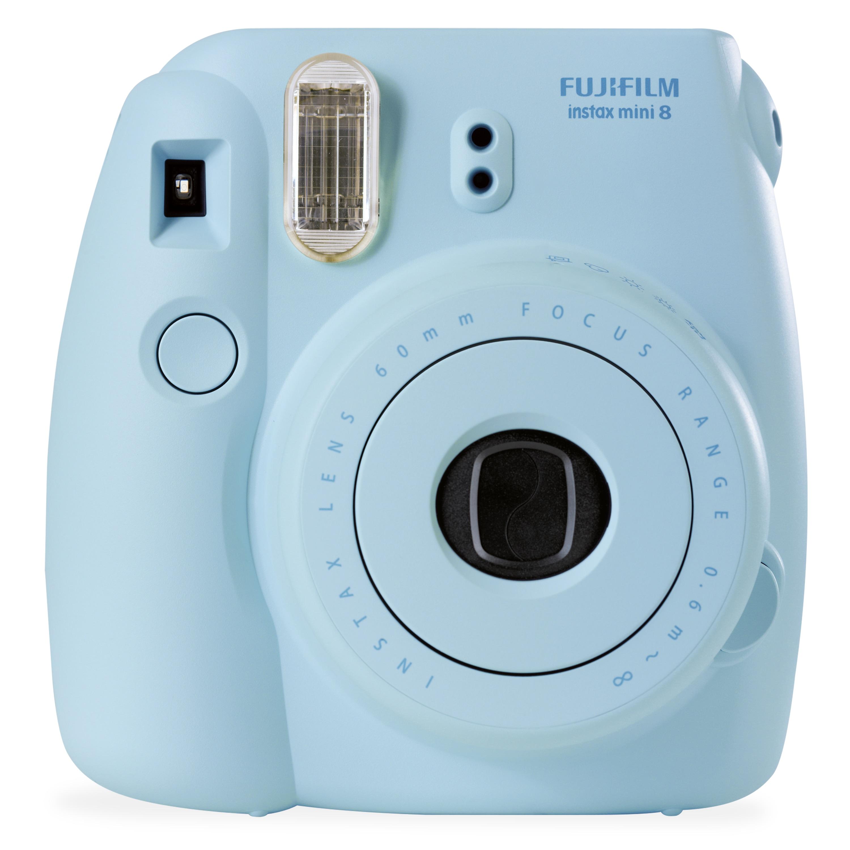 FUJIFILM Instax Mini 8 Sofortbildkamera, kinderleichte Bedienung, manuelle Belichtungseinstellung, High-Key Aufnahmefunktion, Fujinon-Objektiv, integrierter Blitz