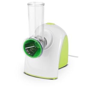 MEDION® Gemüseraspel MD 14489, für einfaches Zerschneiden & Zerreiben von Gemüse und Salat, 150 Watt Leistung, 5 Wechselklingen aus Edelstahl