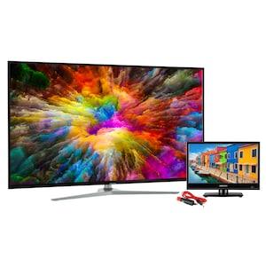 MEDION® LIFE® MD 31803 138,8 cm (55'') Ultra HD Smart-TV + E11681 39,6 cm (15,6'') HD TV mit Car-Adapter - SPARPAKET