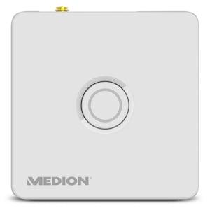 MEDION® Smart Home Zentrale P85701, Zuverlässige Sicherheit im Haus, Echtzeit Benachrichtigung, Datentransfer via Mobilfunk & WLAN