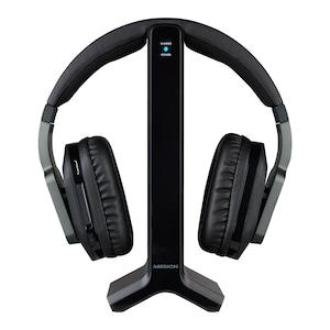 MEDION® LIFE® E69288 Funkkopfhörer, Reichweite ca. 20 m, 9 Stunden Laufzeit, digitaler Sound, hoher Tragekomfort, inkl. Sende-/Ladestation