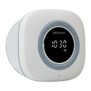 MEDION® LIFE P66096 Radio de douche | Affichage LED | FM | Protection IPX6 | Bluetooth 5.0 | 30 W Puissance de sortie