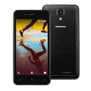 """MEDION® LIFE® E4507, 11,43 cm (4,5"""") Display, Android™ 7.0 Nougat, 16 GB Speicher, Quad-Core Prozessor, LTE, Dual-SIM (B-Ware)"""