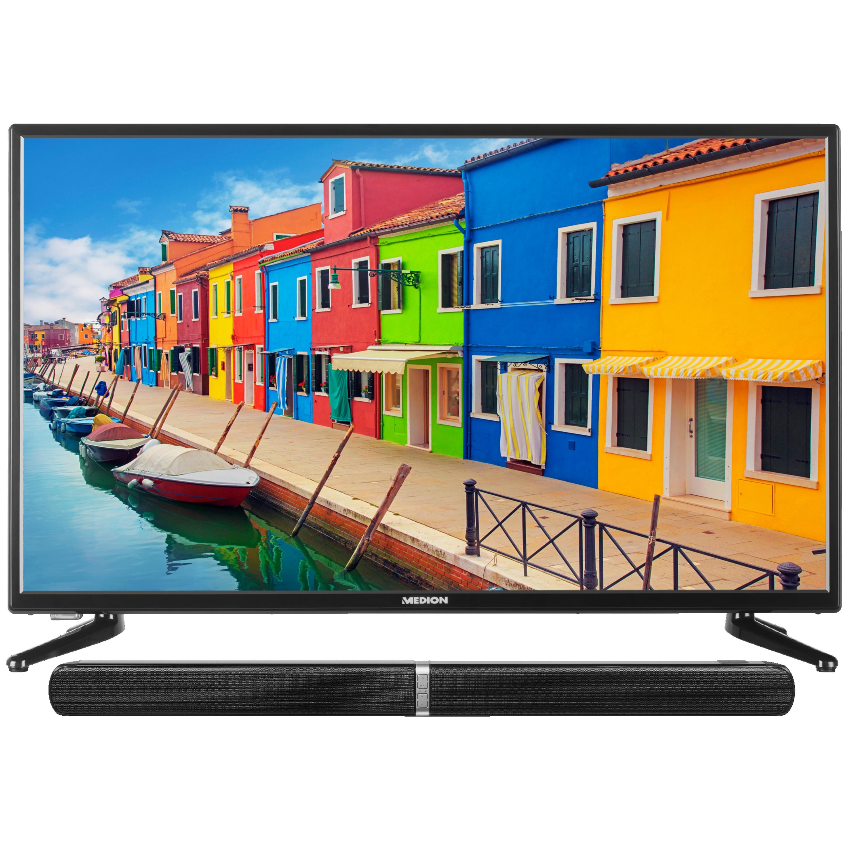 MEDION® LIFE® E14038 TV inkl. Soundbar E64058, 100,3 cm (40''), Full HD, DVB-T2 HD, HD Triple Tuner, integrierter Mediaplayer, CI+ - SPARPAKET
