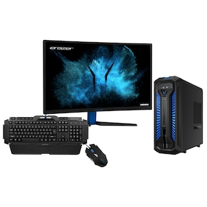 ERAZER® X67122, Intel® Core™ i5-9400, Windows 10 Home, GTX 1660 Ti, 256 GB SSD, 1 TB HDD, 16 GB RAM, Gaming PC, 27'' ERAZER® X57425 Curved Gaming Monitor + ERAZER® Gaming Tastatur X81025 + ERAZER® Gaming Maus X81044