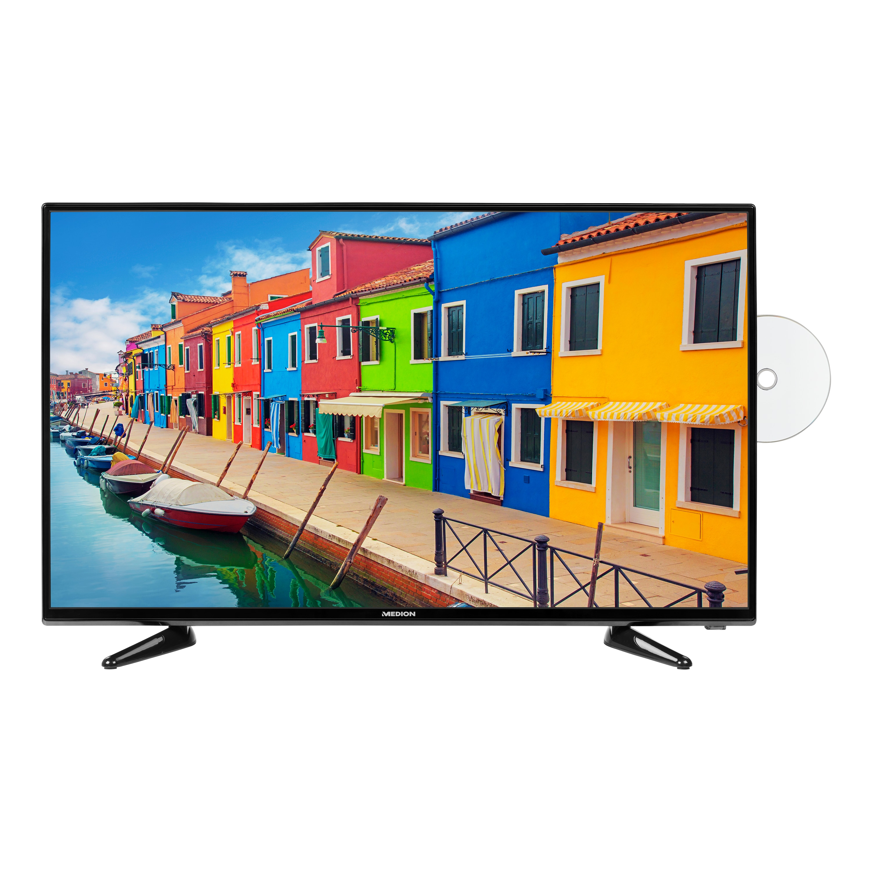 MEDION® LIFE® E14019 TV, 100,3 cm (40''), Full HD, integrierter DVD-Player, DVB-T2 HD, HD Triple Tuner, integrierter Mediaplayer, CI+