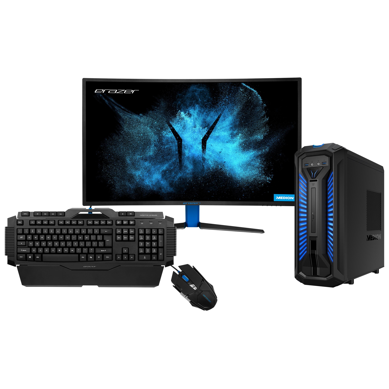 ERAZER® X87029, Intel® Core™ i7-9700, Windows10Home, GTX 1660 Ti, 512 GB SSD, 2 TB HDD, 16 GB RAM + 31,5'' Curved Gaming Monitor X58426 + Tastatur X81025 + Maus X81044
