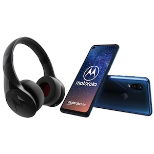 MOTOROLA One Vision Smartphone, 16 cm (6,3) Full HD+ Display, Android™ 9, 128 GB Speicher, Octa-Core-Prozessor, Dual-SIM, LTE, inkl. MOTOROLA Escape Bluetooth® Kopfhörer