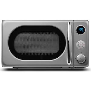 MEDION® Mikrowelle MD 18028, 800 Watt, Grill 1.000 Watt, 20 l Garraum, 8 Automatikprogramme, LED-Display, stilvolles Retro-Design