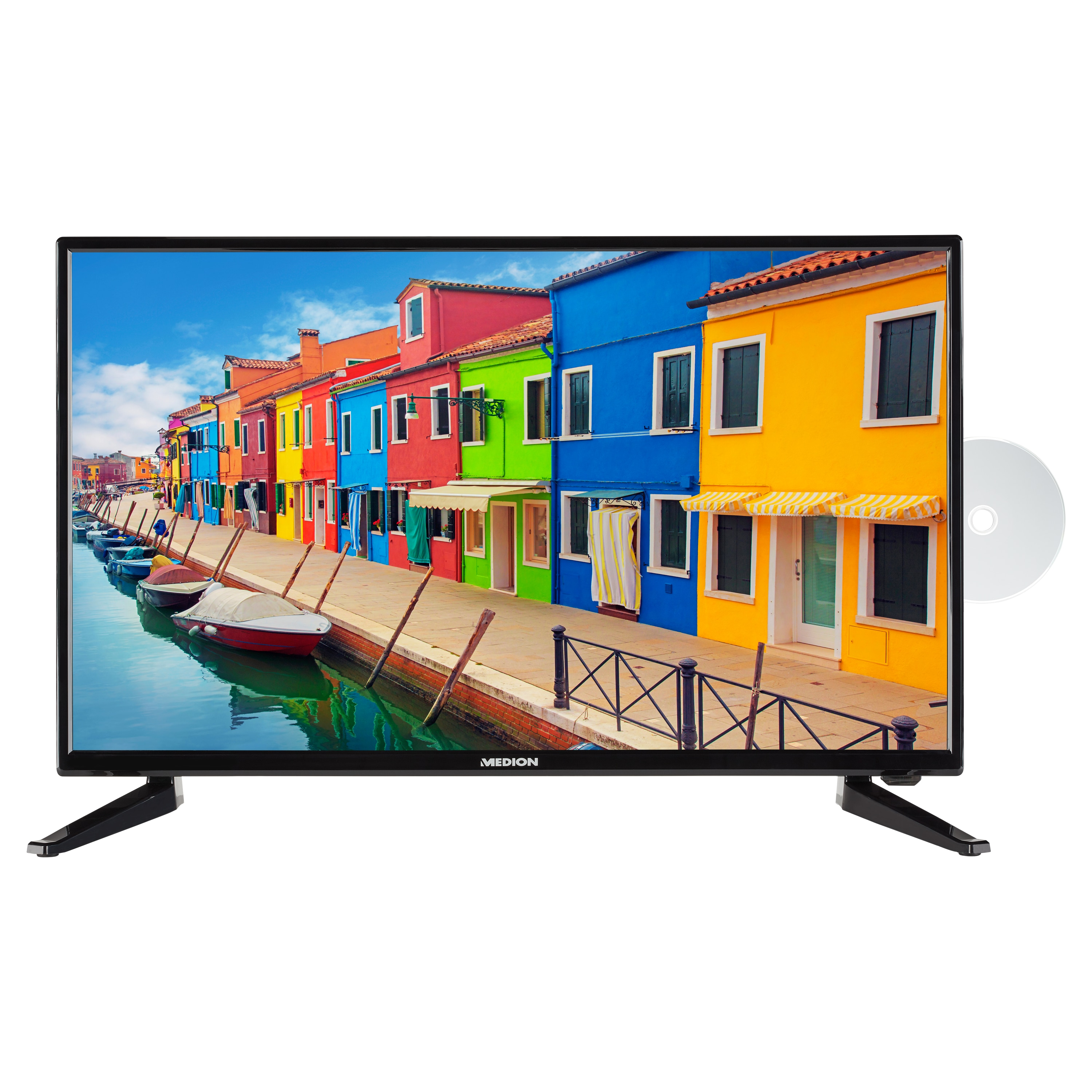 MEDION® LIFE® E12815 LCD-TV, 69,9 cm (27,5'') HD Triple Tuner, integrierter DVD-Player, CI+