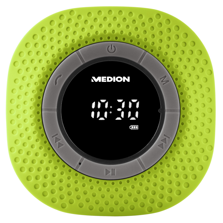 MEDION® LIFE® E66554, Duschradio mit Bluetooth-Funktion, Bluetooth 4.0, PLL-UKW Radio, Freisprecheinrichtung, Saugnapf
