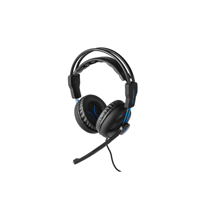 ERAZER® P83962 Gaming Headset, überragender Klang und Lautsprecherqualität, leistungsstarker Bass, Mikrofon, Kabel- und Lautstärkeregelung