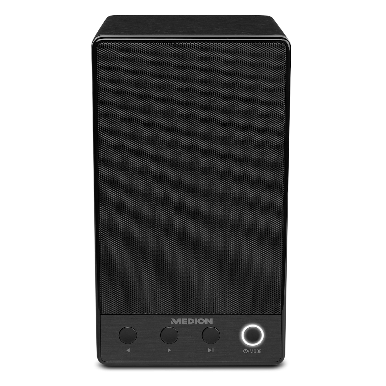 MEDION® LIFE P61084 WLAN Multiroom Lautsprecher, WLAN zur Einbindung ins Heimnetz, DLNA, USB, AUX-In, Steuerung über App