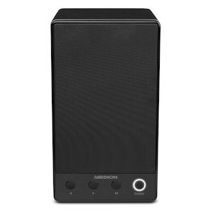 MEDION® LIFE® P61084 WLAN Lautsprecher, integriertes Internetradio, Multiroom, DLNA, USB, AUX, Steuerung über App, Push-to-Connect