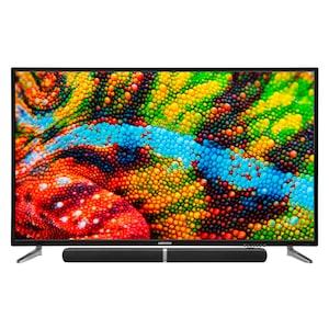 MEDION® LIFE® P16565 TV inkl. Soundbar E64058, 163,8 cm (65''), Ultra HD, PVR ready, integrierter Mediaplayer, DVB-T2 HD, HD Triple Tuner, CI+ - SPARPAKET