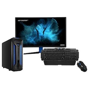 ERAZER® P67069, Intel® Core™ i5-9400F, Windows10Home, GTX 1660, 512 GB SSD, 1 TB HDD, 16 GB RAM + 68,6 cm (27) Curved Gaming Monitor X57425 + Gaming Tastatur X81025 + Gaming Maus X81044