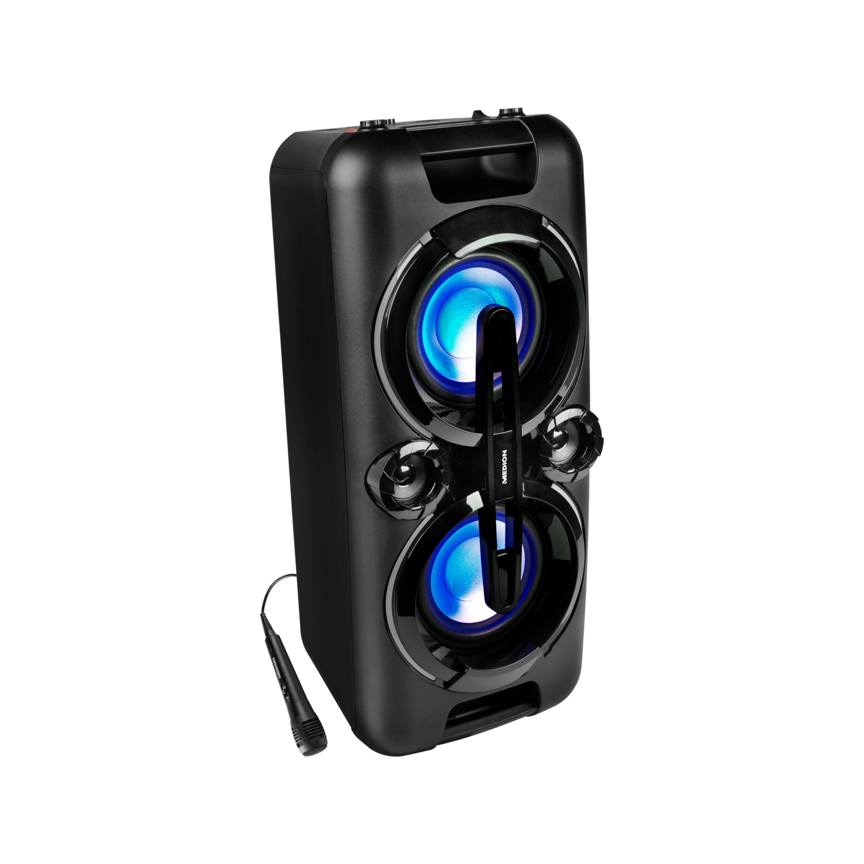 MEDION® LIFE® P67013 Bluetooth® Partylautsprecher, farbige LED-Lichter, kraftvolle Bässe, 2 x 220 W max. Ausgangsleistung