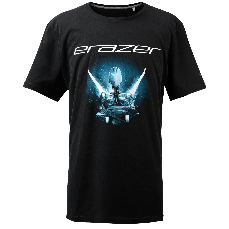 ERAZER® S89080 T-Shirt Basic, Mit ERAZER Logo und Schriftzug, Hochwertiger Stoff, Größe L