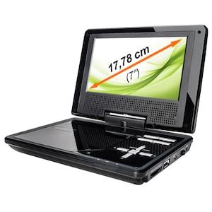 MEDION® LIFE® P72018 Portabler DVD-Player mit 3 in 1 Kartenleser, Xvid und MPEG4 kompatibel, schwarz