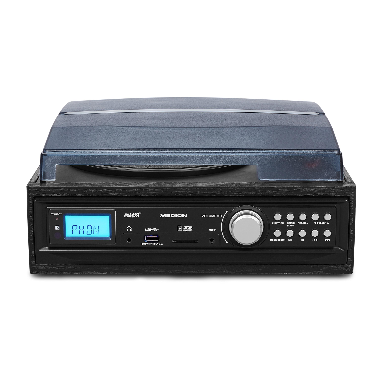 MEDION®  LIFE® E69468 Schallplatten- und Kassettendigitalisierer, Direkte MP3-Umwandlung (kein PC erforderlich), AUX Eingang, Manuelle und automatische Titeltrennung  (B-Ware)