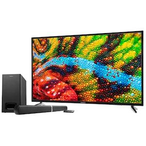 MEDION® LIFE® P15521 TV, 138,8 cm (55), Ultra HD, PVR ready, integrierter Mediaplayer, DVB-T2 HD, HD Triple Tuner, CI+, inkl. 2.1 TV Soundbar E64126
