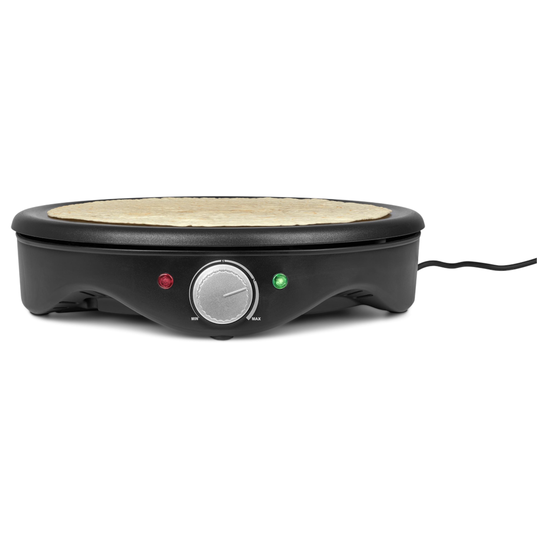 MEDION® Crêpes Maker, MD 17204, 1.500 Watt, antihaftbeschichtete 38 cm Backplatte, stufenlose Temperaturregulierung