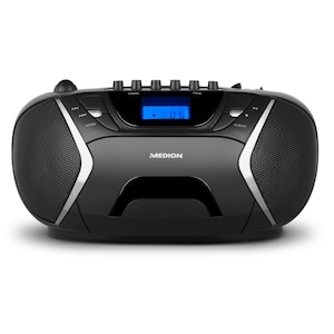 MEDION® LIFE® E65073, Stereo Sound System, Top-Loading CD / MP3-Wiedergabe, AUX-Eingang, 2 x 10 Watt, Kassettendeck, Tuner