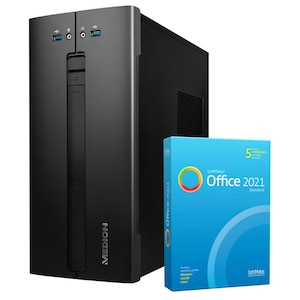 MEDION® AKOYA® E42024, Intel® Core™ i3-10100, Windows10Home, 512 GB SSD, 8 GB RAM, Multimedia PC, inkl. SoftMaker Office Standard 2021