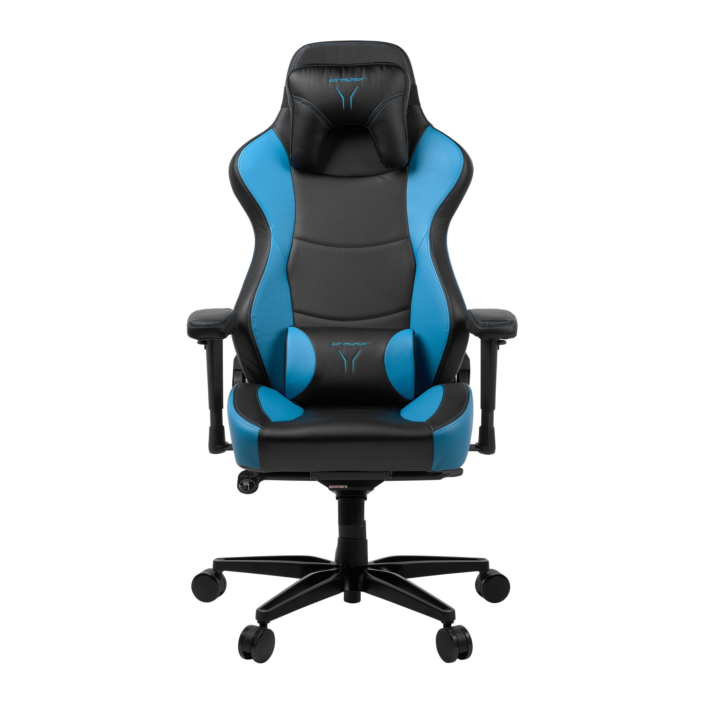 ERAZER® X89100 Gaming Chair, stilvoll und komfortabel, sportliche Optik und hochwertige Materialien, mit 2 Kissen für den Rücken- und Kopfbereich