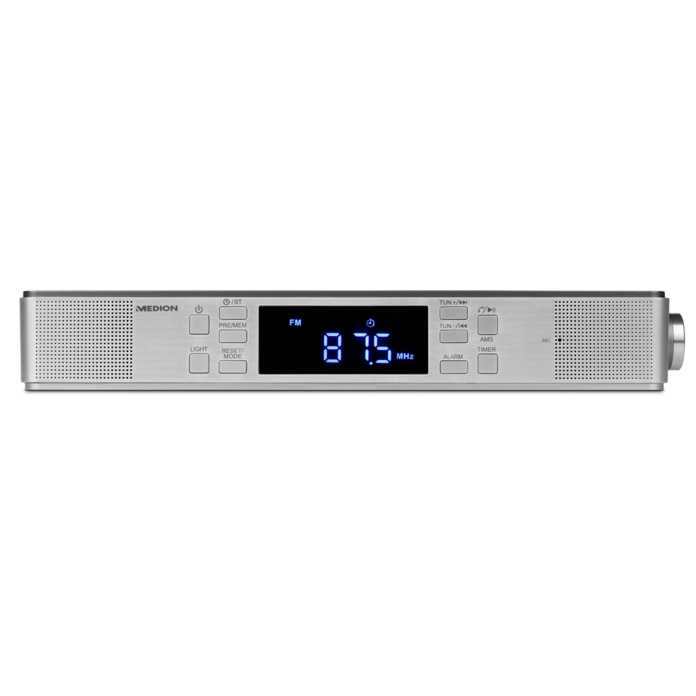 MEDION® LIFE® E66550 Unterbauradio mit Bluetooth-Funktion, PLL-UKW Radio, Freisprechfunktion, 2 x 2,7 W RMS, Timerfunktion, LED-Display
