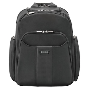 EVERKI Versa 2 Premium laptoprugzak, voor apparaten tot 14,1, MacBook Pro 15, hoogwaardige lederen accenten en handgrepen, hoekbescherming