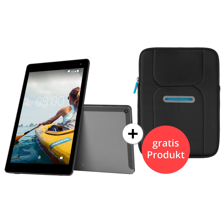 "MEDION® LIFETAB® X10605 Tablet, 25,7 cm (10,1"") FHD Display mit Corning® Gorilla® Glass, Update auf Android™ 8, 32 GB Speicher, Octa Core Prozessor, LTE, Quick Charge + GRATIS Tablet Tasche"