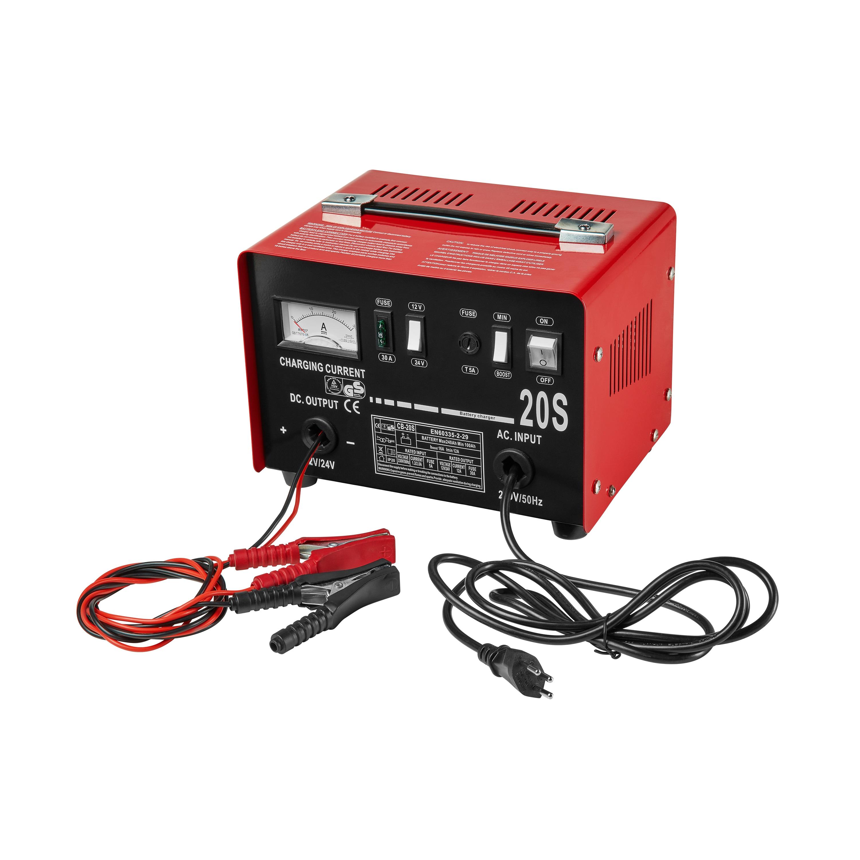 MEDION® Batterieladegerät MD 17094, Auto Batterieladegerät, Amperemeter, automatischer Ladevorgang, rot